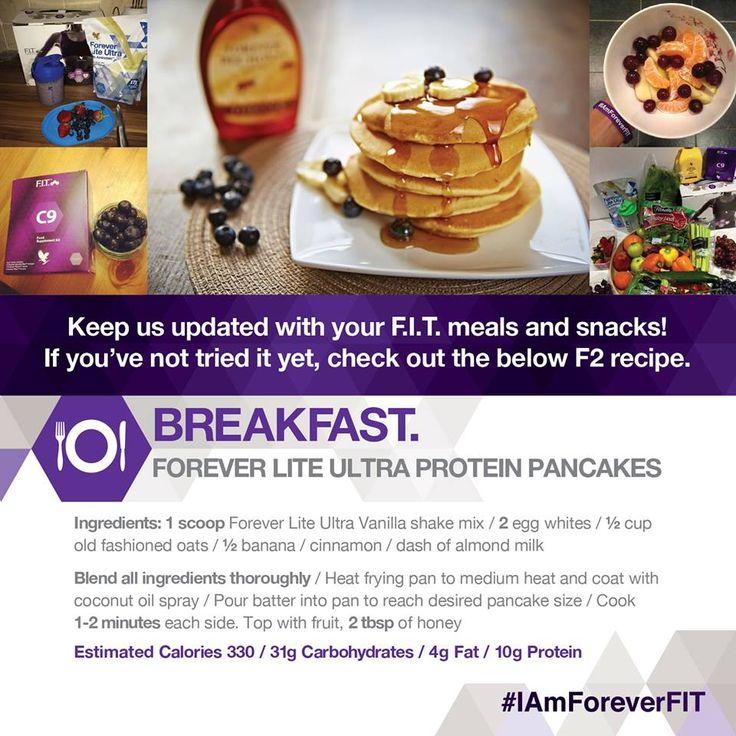 #Pancakes for #breakfast mmmmm yummy!!!! #forever #living #ultra #lite #protein