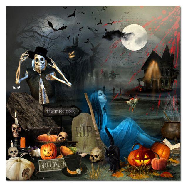 #happyhalloween by #justlovedesign #spooky #halloween #polyvore #art