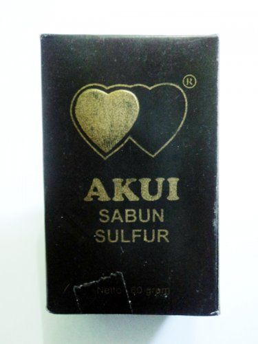 Jamu Herbal Soap Sulfur Akui For Removes Itches In The Groin Eliminates the chronic eczema