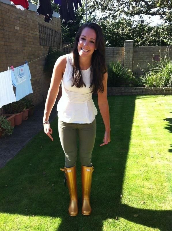 Dani King's gold wellie's!