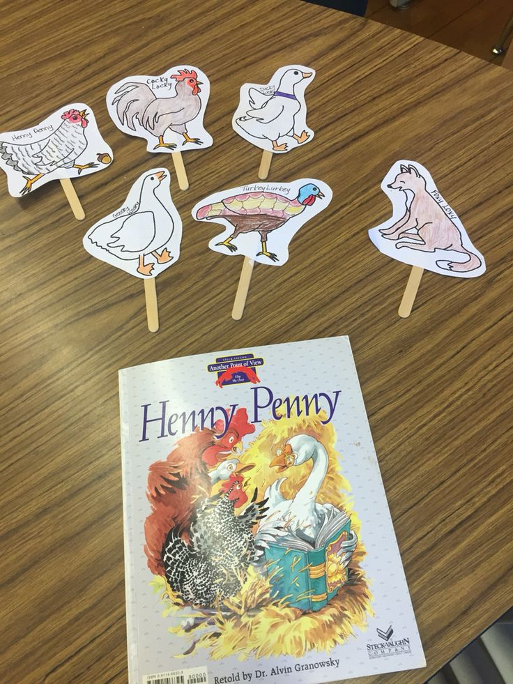 After reading Henny Penny and another point of view, Brainy Bird Saves the Day, we created these puppets and role played both versions of the story.  Thank you to www.makinglearningfun.com, I found the story retelling pieces for Henny Penny. I enlarged the pictures and added popsicle stick! My students loved this activity!