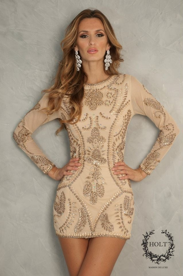 Holt  TAYLOR NUDE DRESS LONG SLEEVES  Style Code: TAYLOR    $398.00