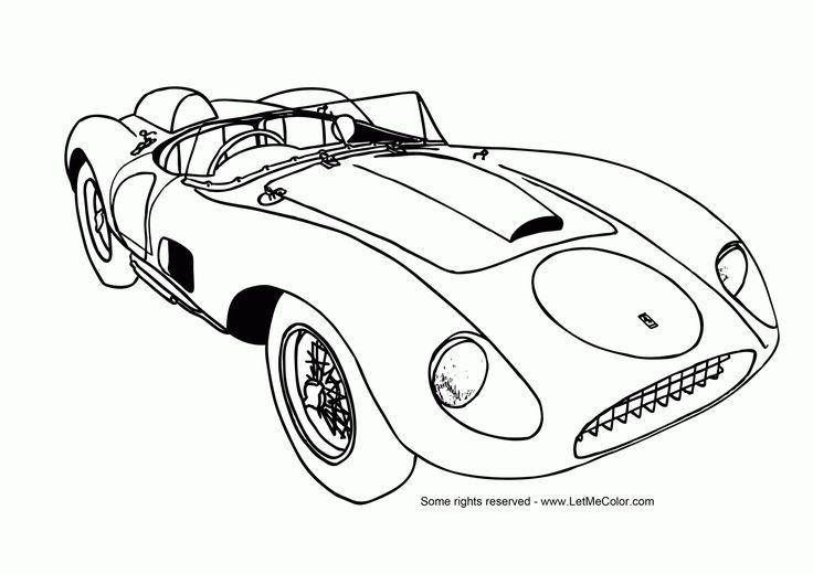 32 Best Images About Race Car Coloring Pages
