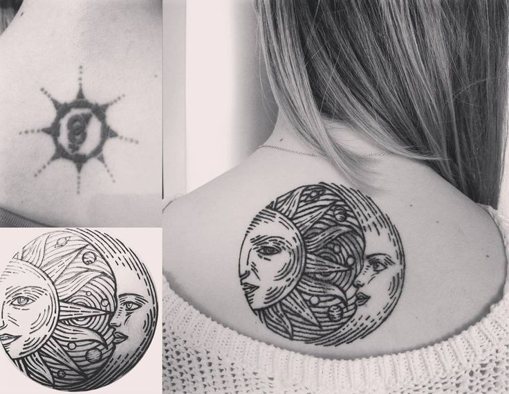 In Progress  #coverup #нефть #tattoo #art #design #moscow #azart #alexeyazarov #sun # moon #space #sombrerogalaxy
