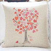 "18"" Ink Painting Tree Cotton/Linen Decorative... – AUD $ 15.34"