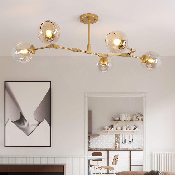 Find More Chandeliers Information About Nordic Adjustable Globe Branching Bubble Chandelier Lighting Gold Metal Hanging Lamp