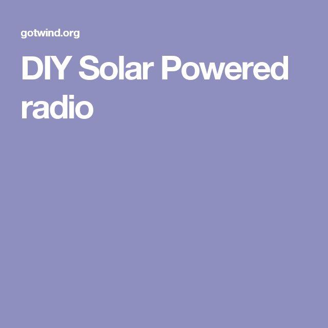 DIY Solar Powered radio