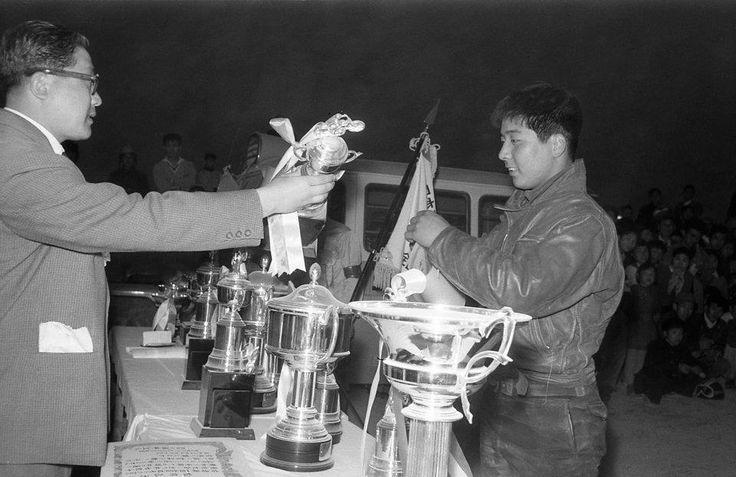 Kazuo Kubo (Johoku Riders) 1959 MCFAJ All Japan Motocross in Osaka Shinoda-yama.
