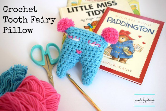 crochet tooth fairy pillow | easy project | made by demi