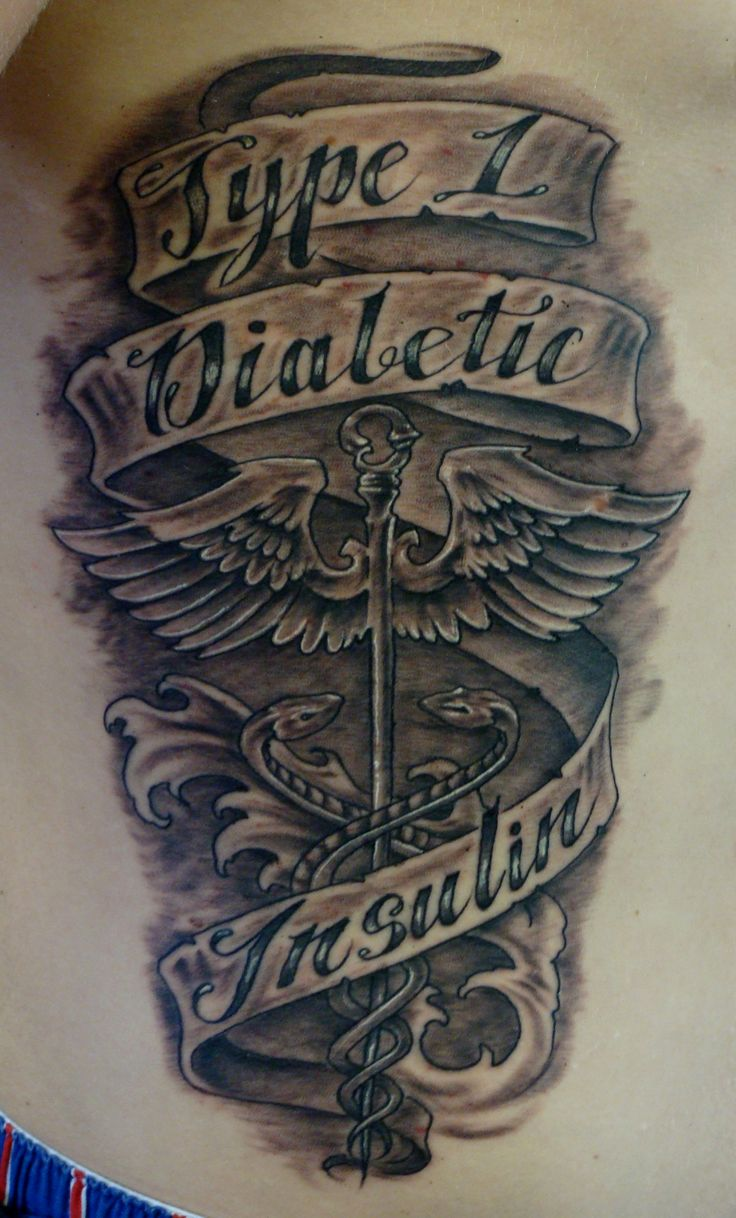 The gallery for type 1 diabetes tattoo designs for Pictures of diabetic tattoos