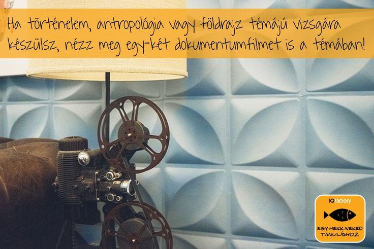 Tanulás dokumentumfilmekkel - megfontolandó a sokadik könyv átrágása után egy témába vágó filmmel feldobni a vizsgára való készülést! IQfactory