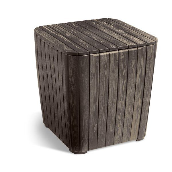 Opperman Plastic Resin Side Table Side Table With Storage