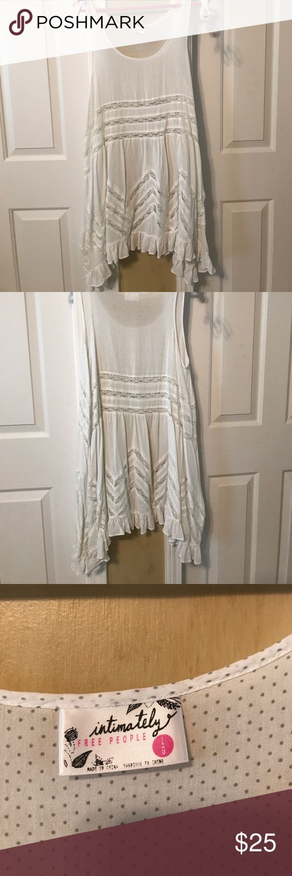 Free People Dress A cute free people white dress! Its flows and great for summer! Free People Dresses