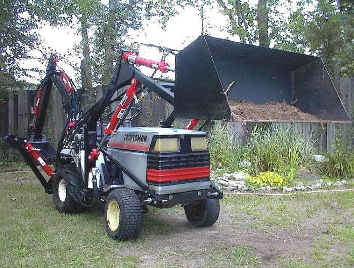 Craftsman Garden Tractor Front Loader : Sears craftsman gt garden tractor loader