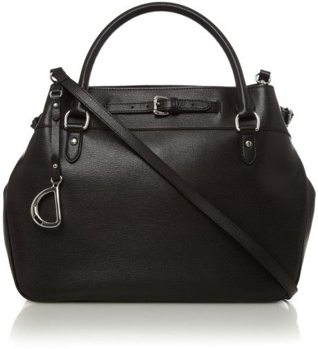 Lauren By Ralph Lauren Newbury Large Tote in Black - Lyst