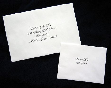 how to address wedding invitations   21st - Bridal World - Wedding Lists and Trends