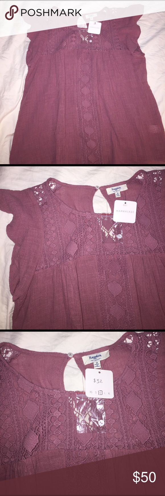 Mauve Pink Top NWT Gorgeous too that is a size medium (runs small) and has never been worn. Not FL&L just for exposure For Love and Lemons Tops Blouses