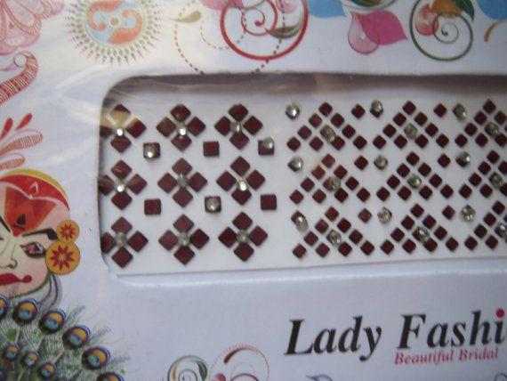 On sale 190 Square  rhinestone bindi/dots/round by CraftyJaipur