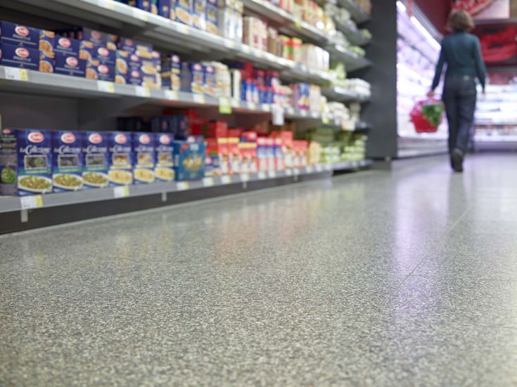 Amazing terrazzo perfect for high-traffic commericial and retail applications. Available at Signorino Tile Gallery