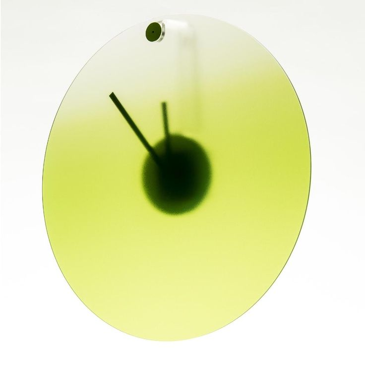 Orologio da parete in plexigas movimento al quarzo HIDE TIME Ø35x4 cm Verde | Vesta | Stilcasa.Net: orologi da parete