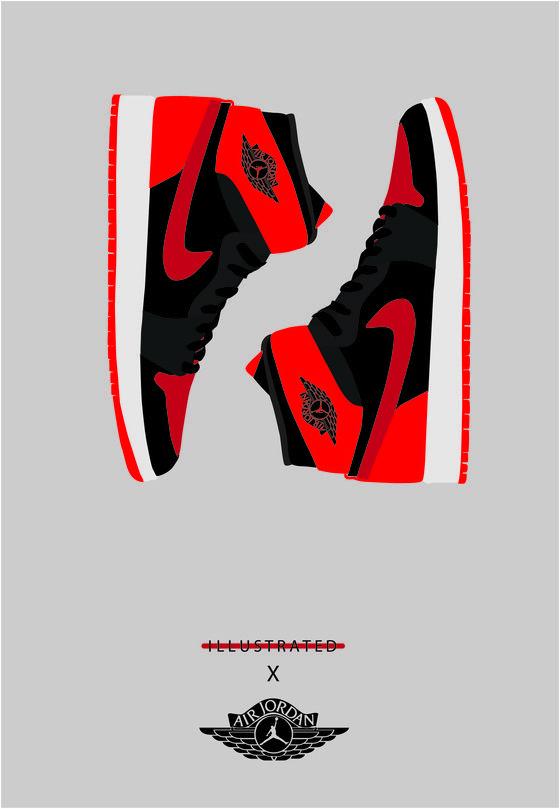 Image of A3 Jordan Bred 1 Poster.