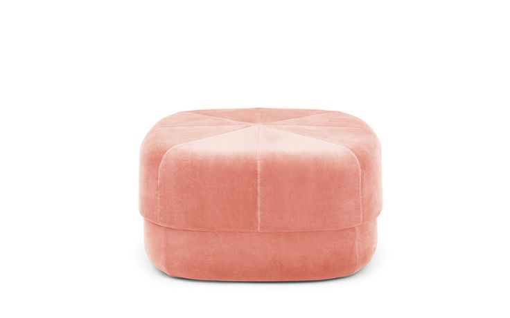 Circus Pouf large in blush velour – Nordic Moroccan pouf