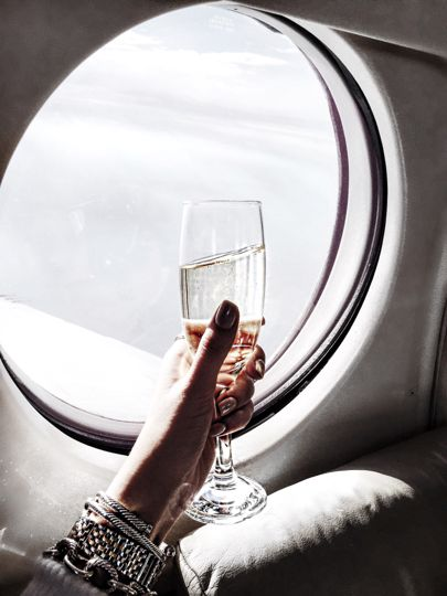 Veuve at 30,000 feet ✌️✈️ Headed to Charleston for the night! http://liketk.it/2pAKc #liketkit @liketoknow.it