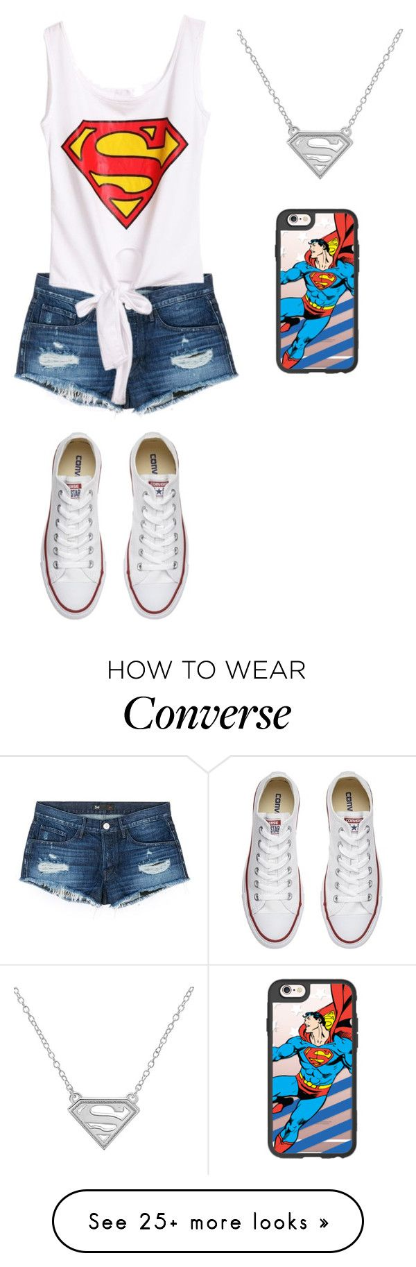 """Superman"" by amanda-o-twomey on Polyvore featuring 3x1, Converse and Casetify"