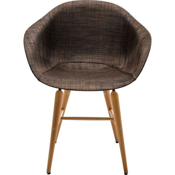 Chair with Armrest Forum Wood Brown - KARE Design