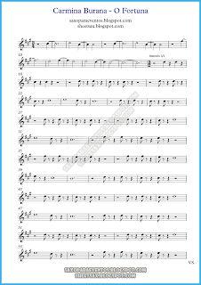Παρτιτούρα του Carmina Burana (O Fortuna) από τον Carl Orff (παρτιτούρες για Carmina Burana) | Δωρεάν μουσική φύλλο για σαξόφωνο