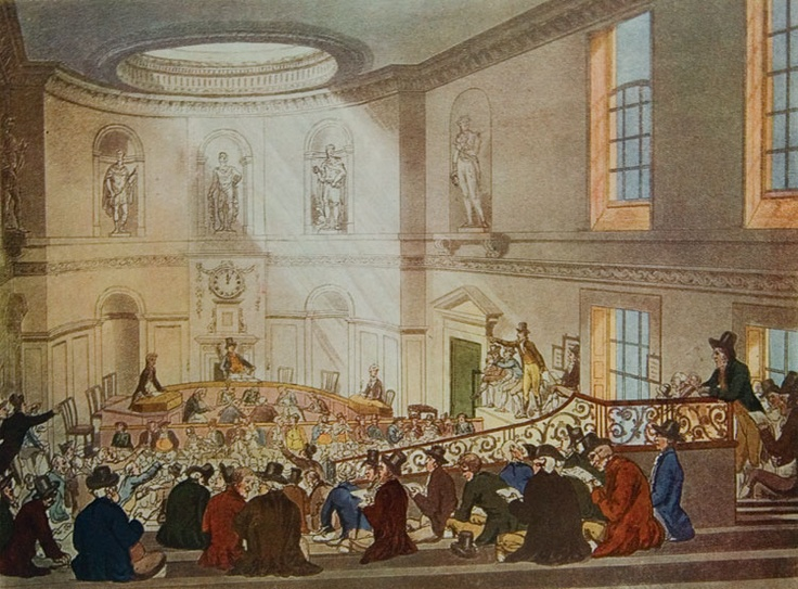 An East India Company tea auction in London, ca. 1830.: Hidden London, Teas Auction, Company Teas, East India, High Teas, London Teas, India Teas, British India, Teas In India