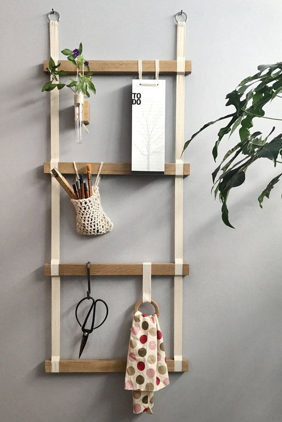 This decorative wooden ladder is a perfect display ladder. This