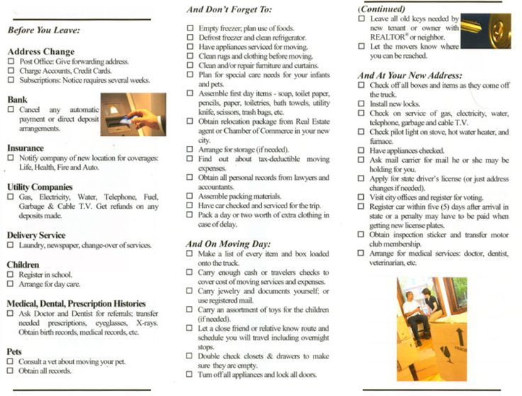 Moving Checklist Printable  Google Search  Tampa And Sarasota