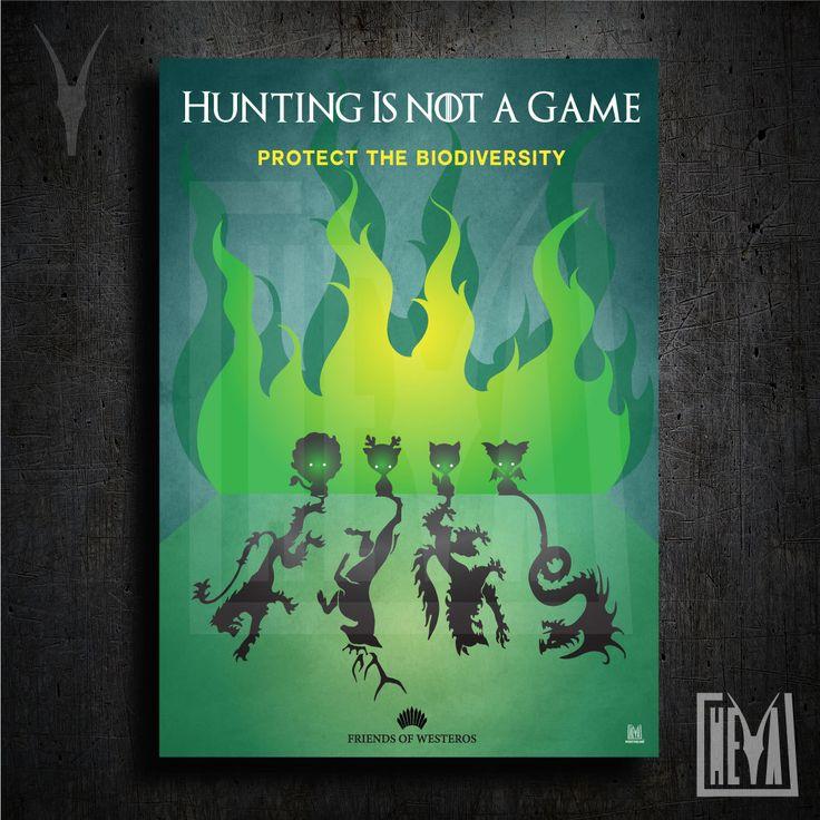 Poster da collezione 50x70 cm - Game of thrones. La caccia non è un gioco - Design originale Heya di HeyaStore su Etsy