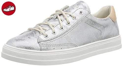 ESPRIT Sidney Lace UP, Damen Sneakers, Silber (090 silver), 38 EU - Esprit schuhe (*Partner-Link)