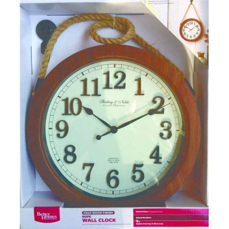 """Better Homes and Gardens 12"""" Hanging Rope Wall Clock Image 2 of 2"""
