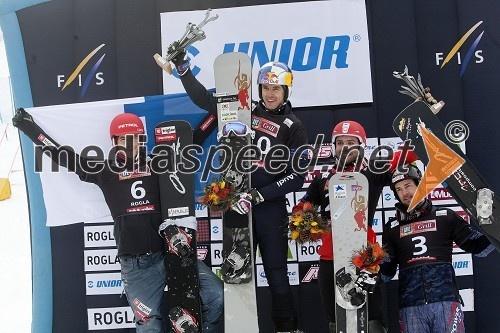 Žan Košir, deskar na snegu (SLO); Roland Fischnaller, deskar na snegu (Italija); Sylvain Dufour, deskar na snegu (Francija); Ingemar Walder, deskar na snegu (Avstrija)