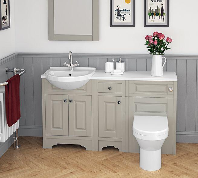 Atlanta Classic bathroom furniture in beautiful Stone Grey, creating a timelessly stylish look.