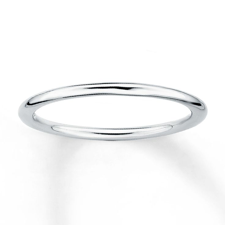 Great This sleek stackable ring is fashioned from sterling silver and has a polished finish It