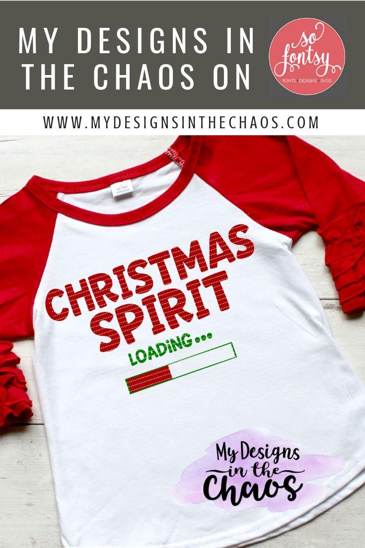 Christmas Spirit Loading Svg Design Holiday Svg Cricut