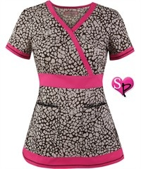 Koi Scrubs Island Print Top and much more
