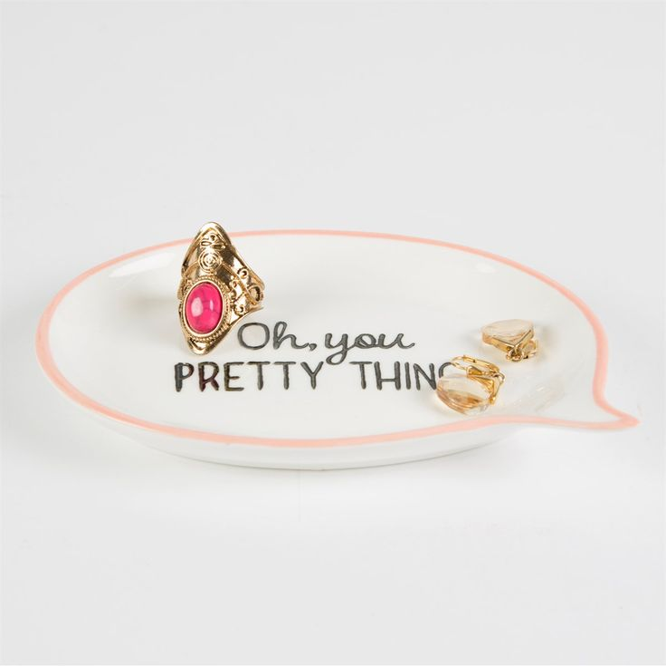 Oh, You Pretty Thing Sweet Speech Trinket Dish Pink
