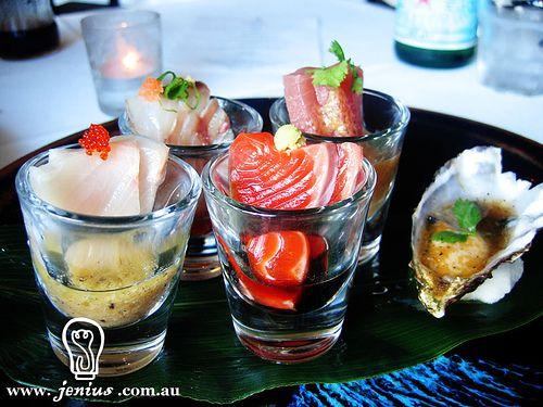 Rise restaurant, Omakase degustation-  sashimi