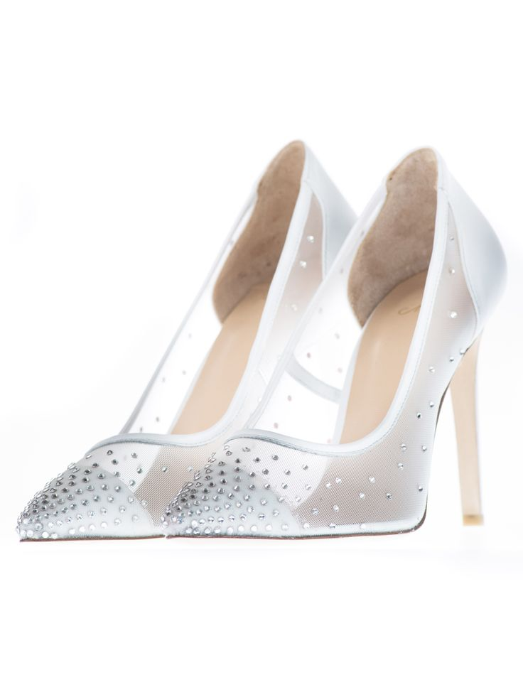 Elmas will have you feeling like you are walking on the stars! These sophisticated heels are encrusted with twinkling, genuine Swarovski crystals and will give you dazzling, elegant results. Perfect for walking down the isle!
