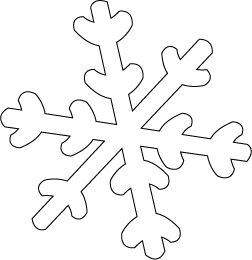 Snowflake Patterns To Cut Out | Transfer the snowflake pattern to a piece of felt and cut out. Use ...