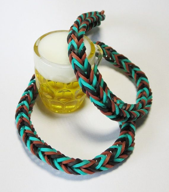 Beer Camouflage Loom Band Necklace by TiStephani on Etsy