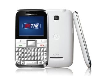 Motorola MOTOKEY Mini EX108 is appeared in candy bar form with full QWERTY keypad.