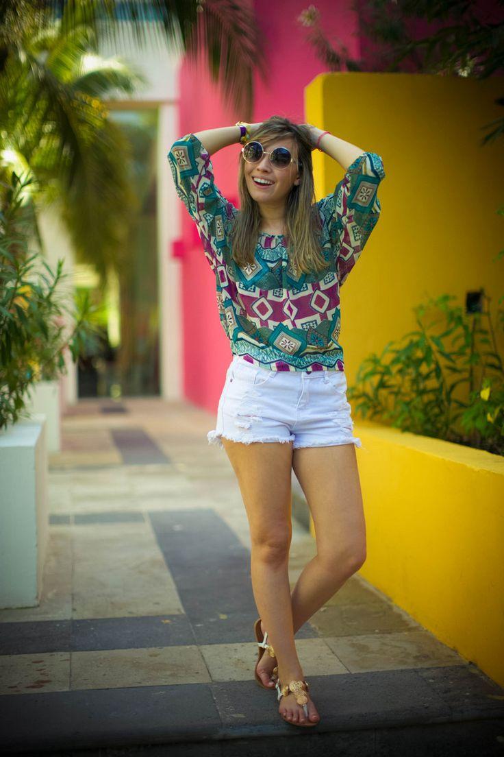 """LOOK!!! """"Cancun, primeiro dia, minha aventura!"""" - Taciele Alcolea"""