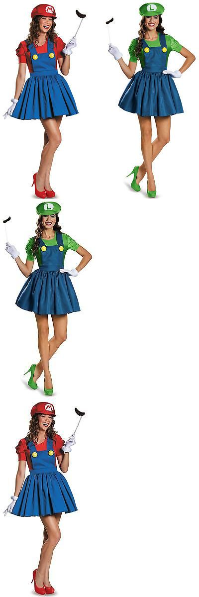 Halloween Costumes Couples: Super Mario And Luigi Workmen Couples Fancy Dress Adult Womens Costumes Outfits BUY IT NOW ONLY: $14.95