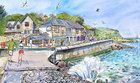 Bonchurch Beach.  Maria Ward IOW artist.  Lovely pictures which really capture the essence of the Island.
